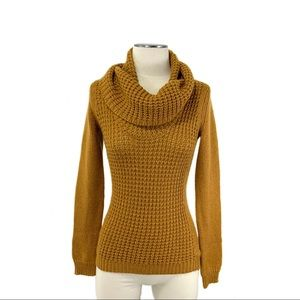 Anthropologie- Angel of the North Mustard Sweater